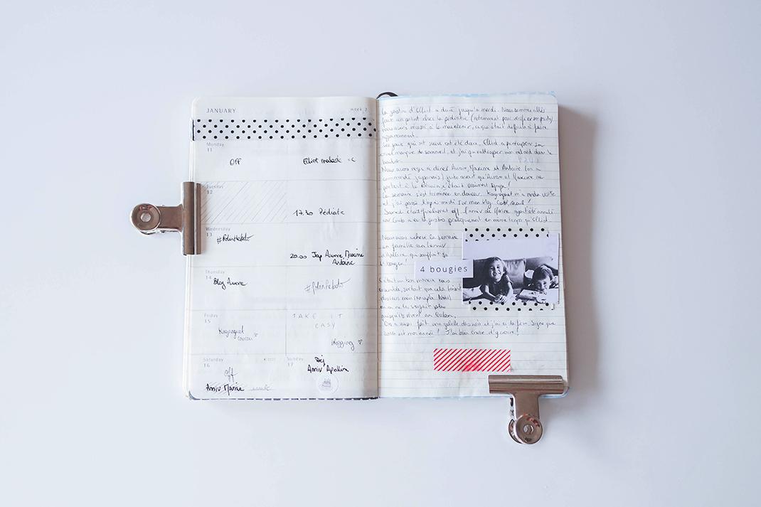 Faire son journal dans un Moleskine: le carnet d'Elodie!