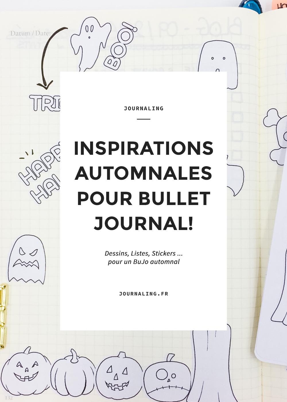 Inspirations d'Automne pour votre Bullet Journal