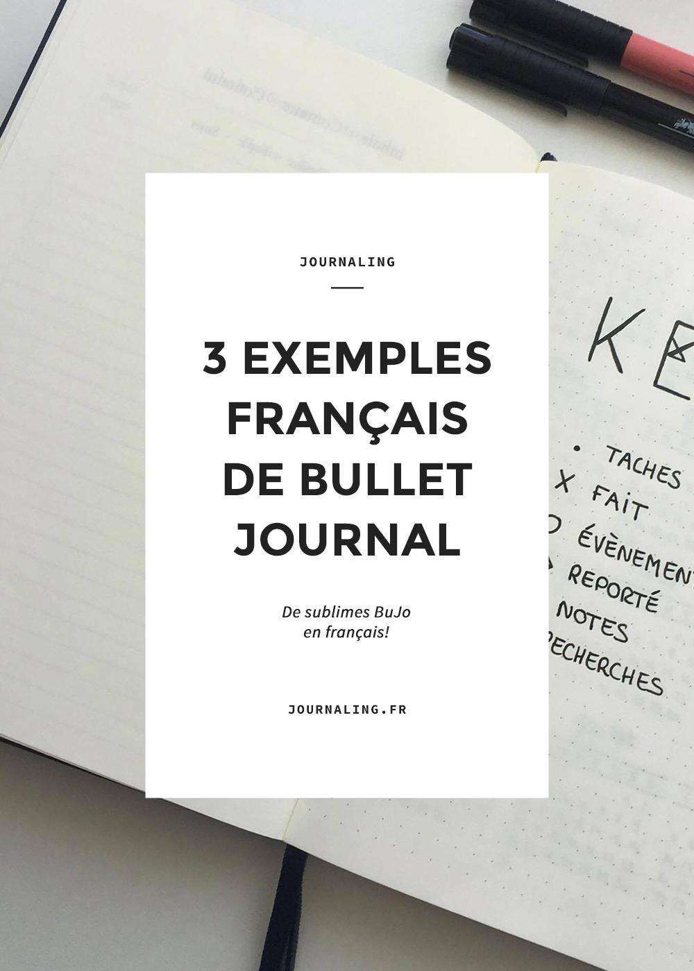 Bullet Journal, exemples en français: nouveautés!