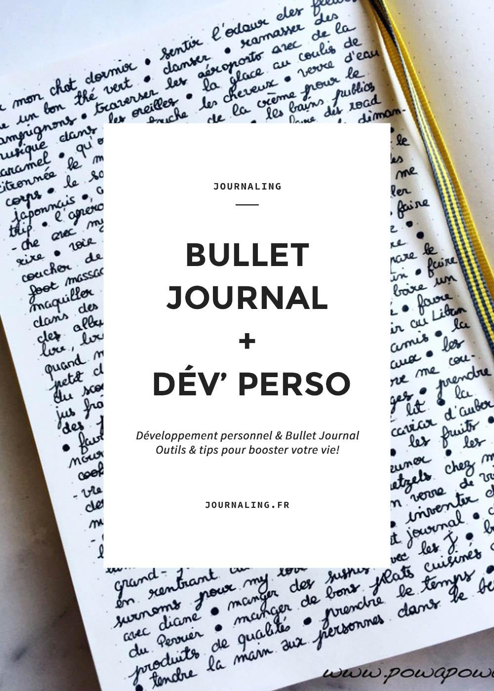 Bullet Journal et développement personnel