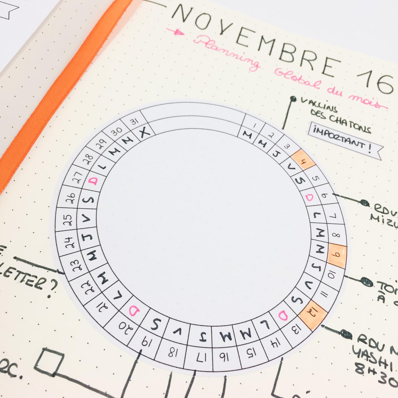 bulletjournal-wheel-calendar-mois