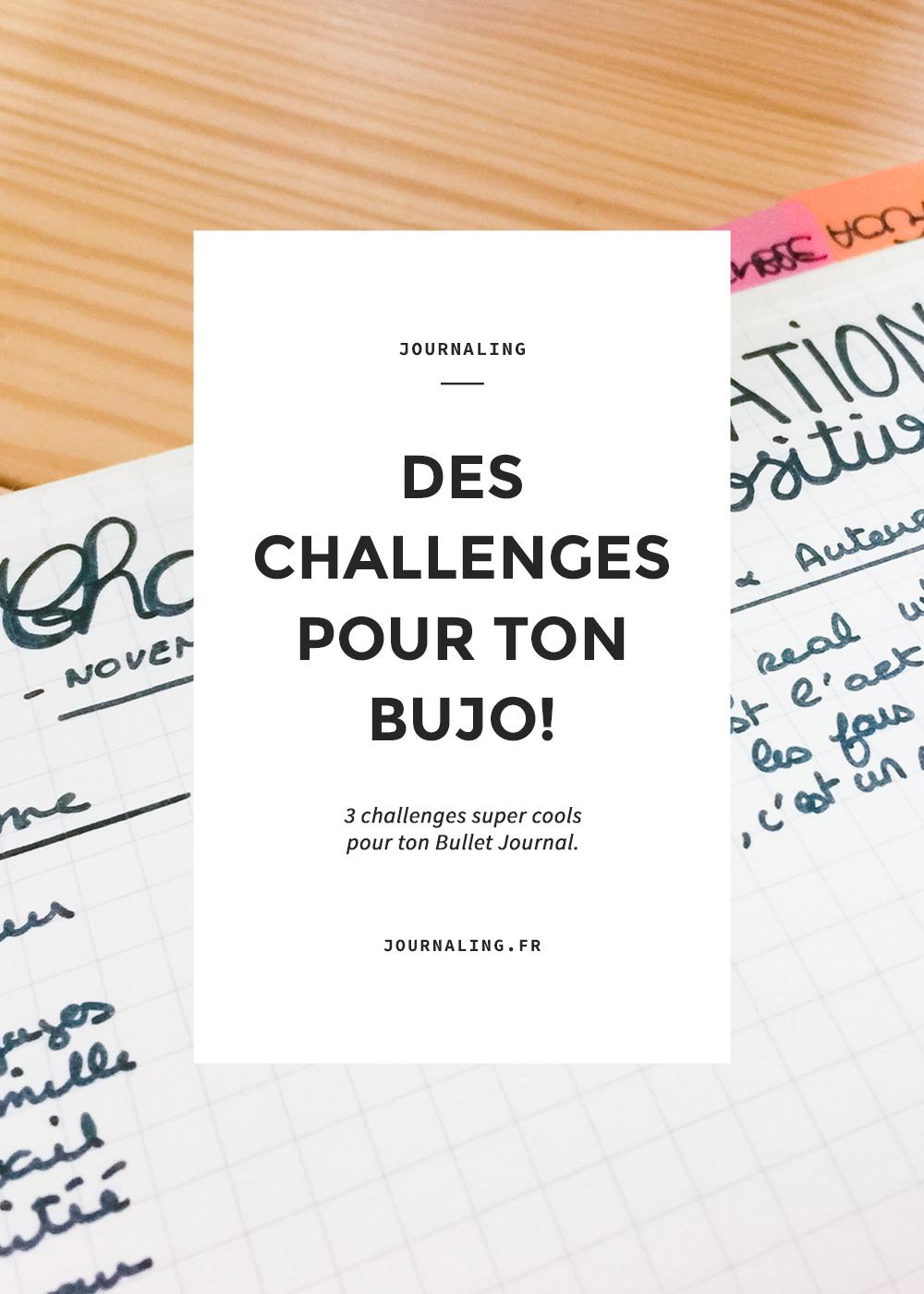 Challenges dans ton Bullet Journal