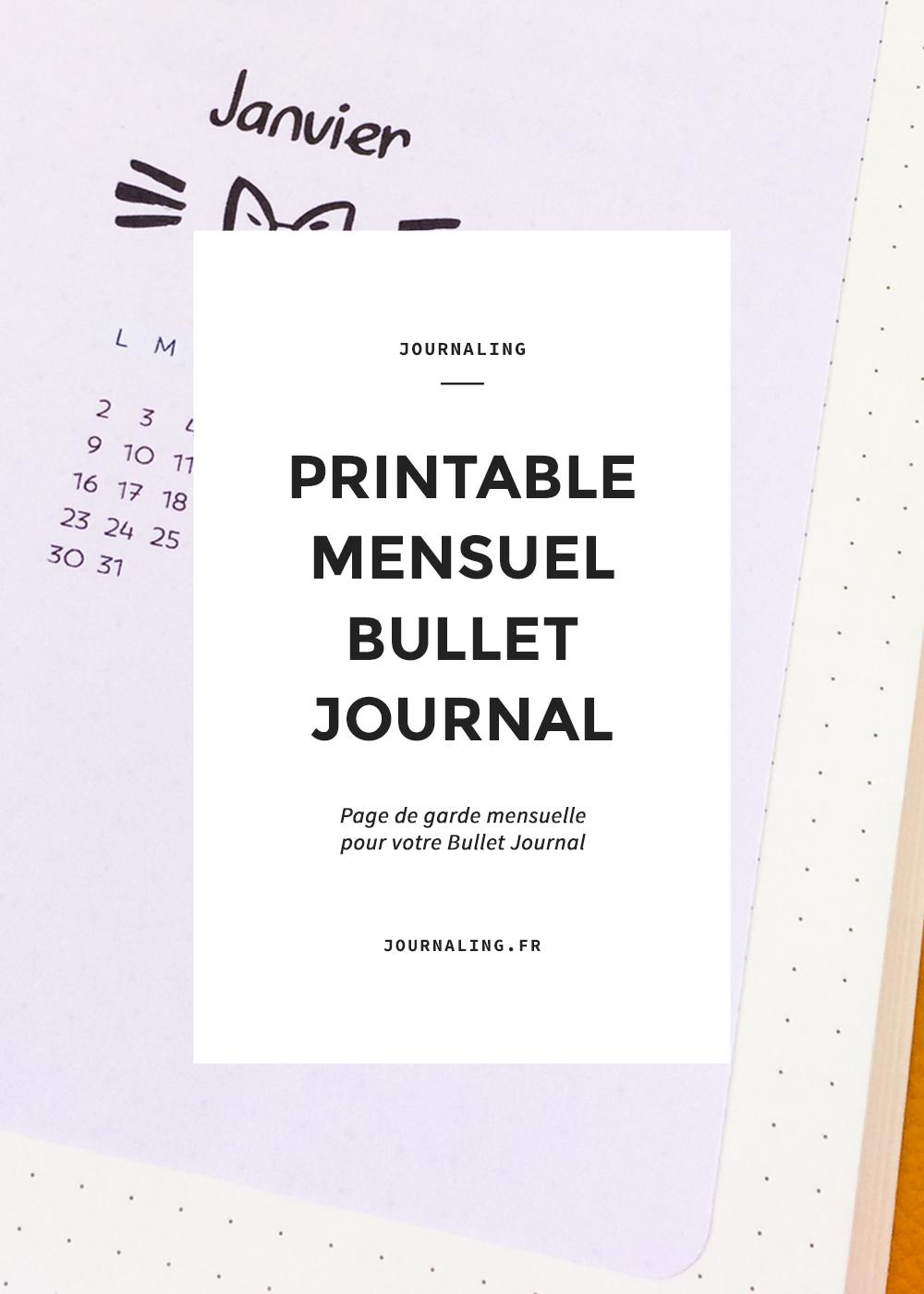 Printable Bullet Journal: janvier + février 2017 !