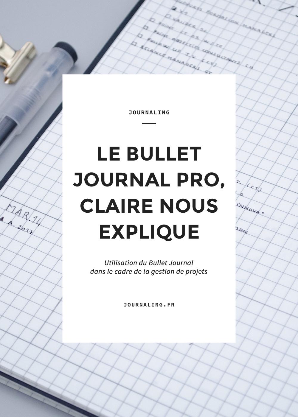 Le Bullet Journal au travail
