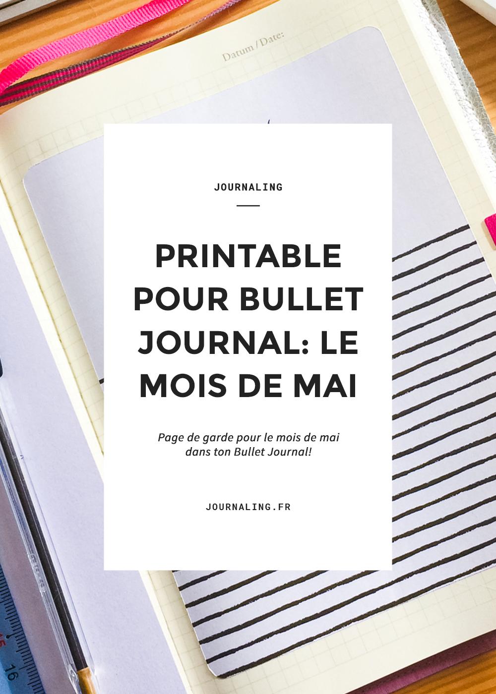 Printable Bullet Journal: le mois de mai