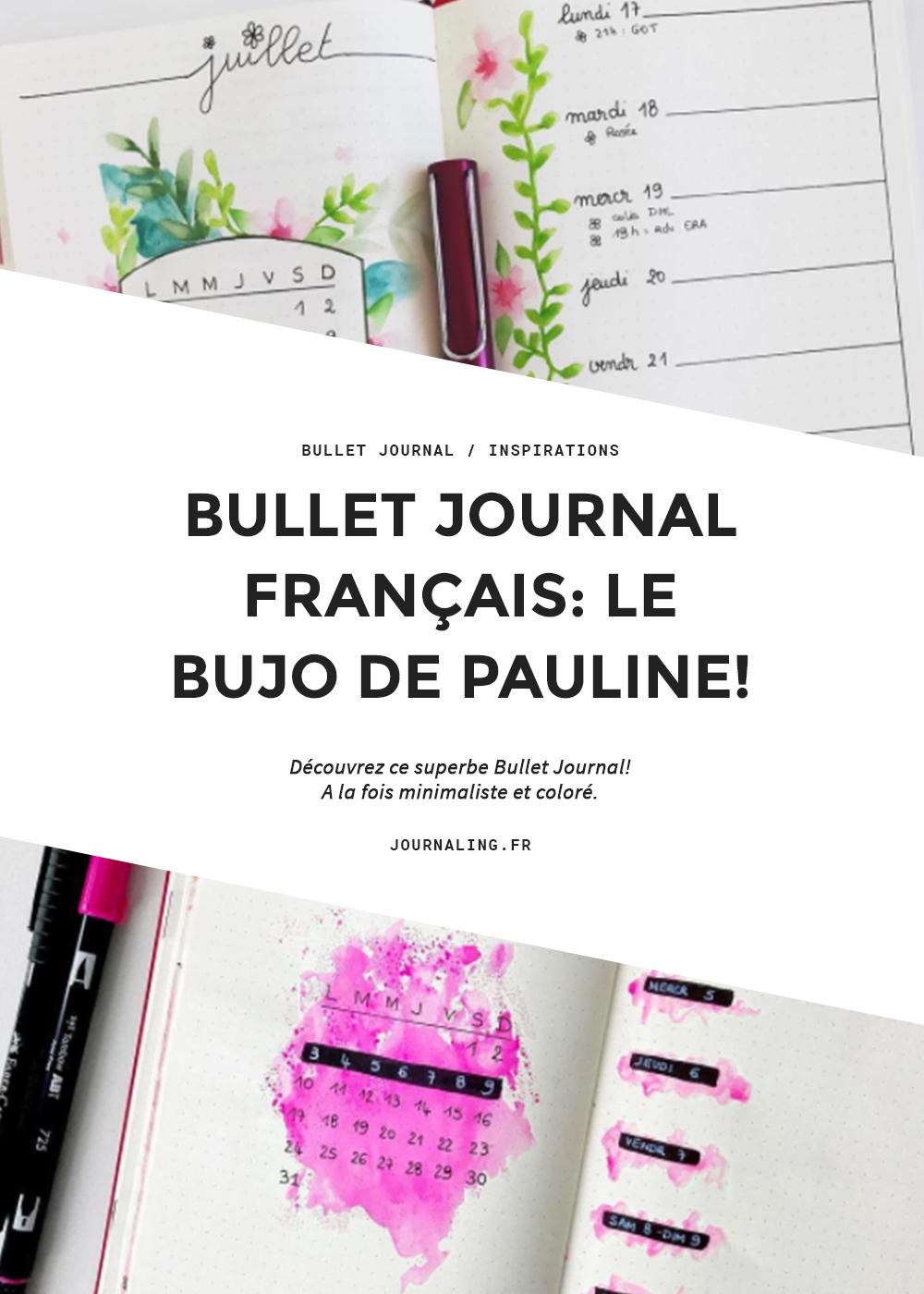 Bullet Journal français: le Bujo de Pauline