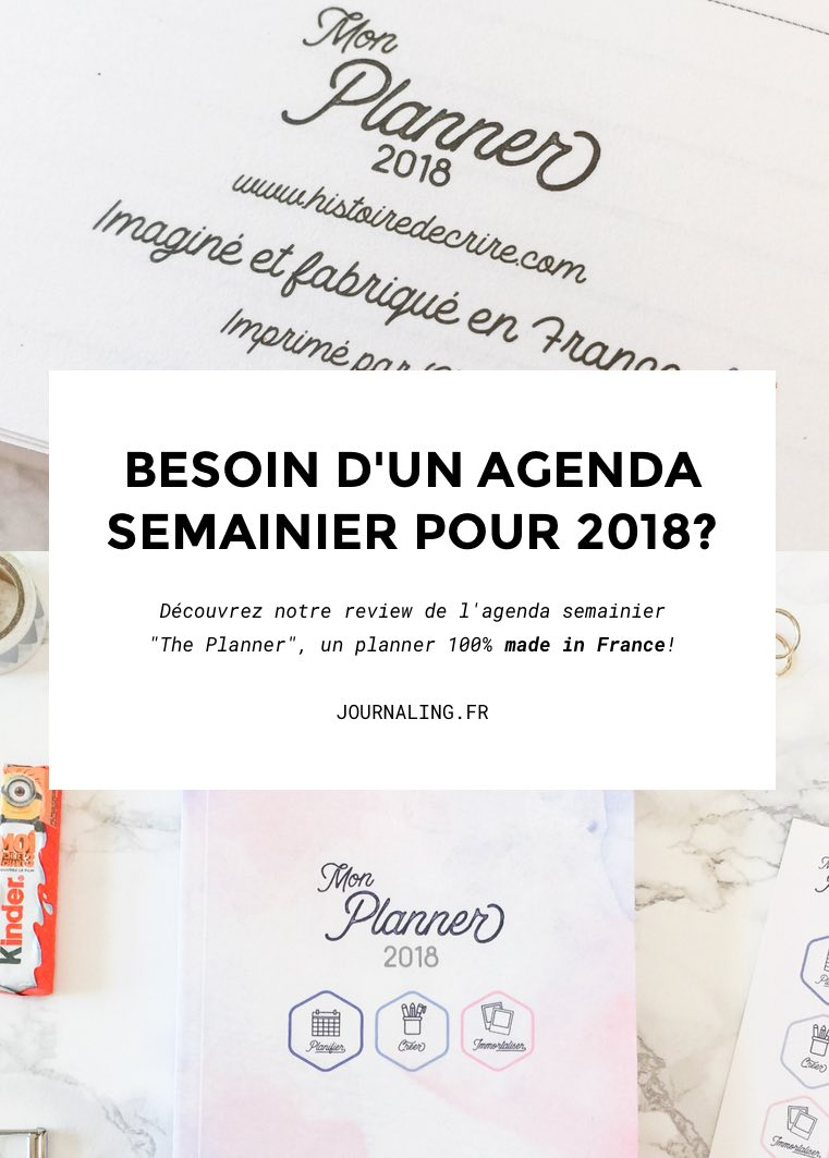 Agenda 2018, made in France & féminin ? Yes!