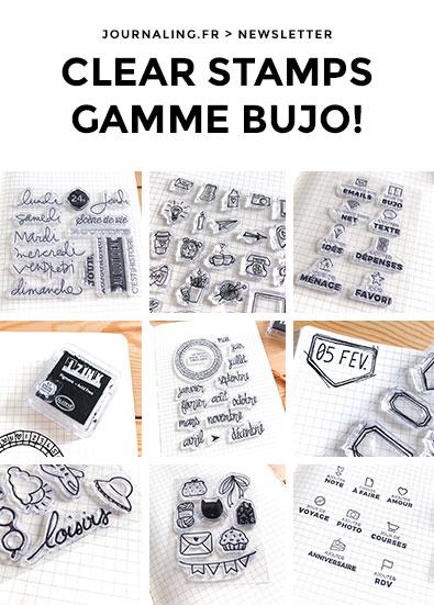 Bullet Journal, Planners et Papeterie: les Clear Stamps (newsletter du 13 février 2018)