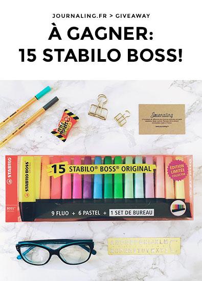 Stabilo Boss, coffret Collector à gagner sur IG!