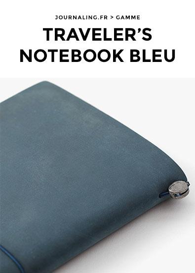 TRAVELER'S NOTEBOOK en Bleu !
