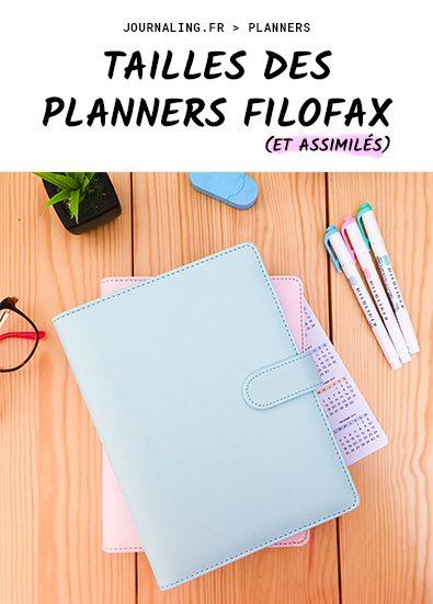 Tailles des planners Filofax et compatibilités