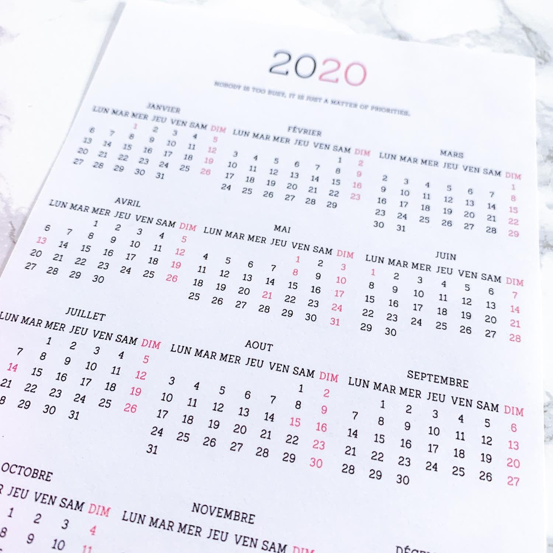 Calendrier Bullet Journal 2020.Pack Stickers Calendriers 2020 Pour Votre Bullet Journal