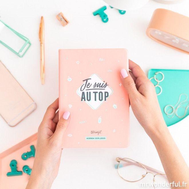 agenda mr wonderful petit modele rose 2020