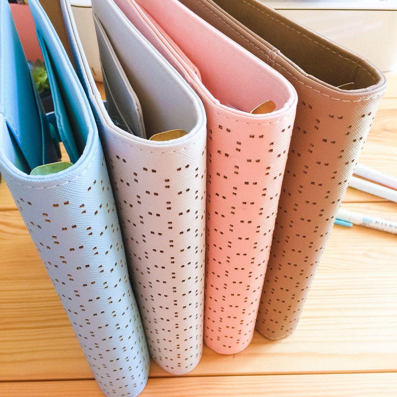 Planner A5, couverture poinçonnée Pastel