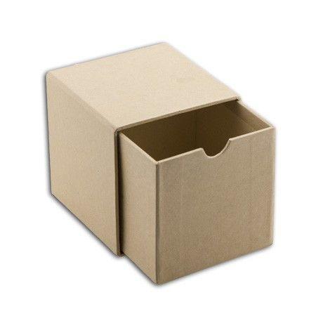 Boîte à tiroir Kraft à décorer