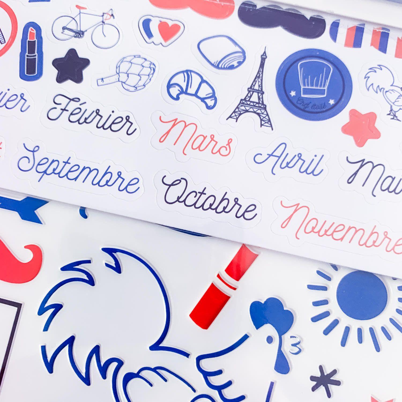 Kit d'accessoires BUJO et Planner / Thème frenchy