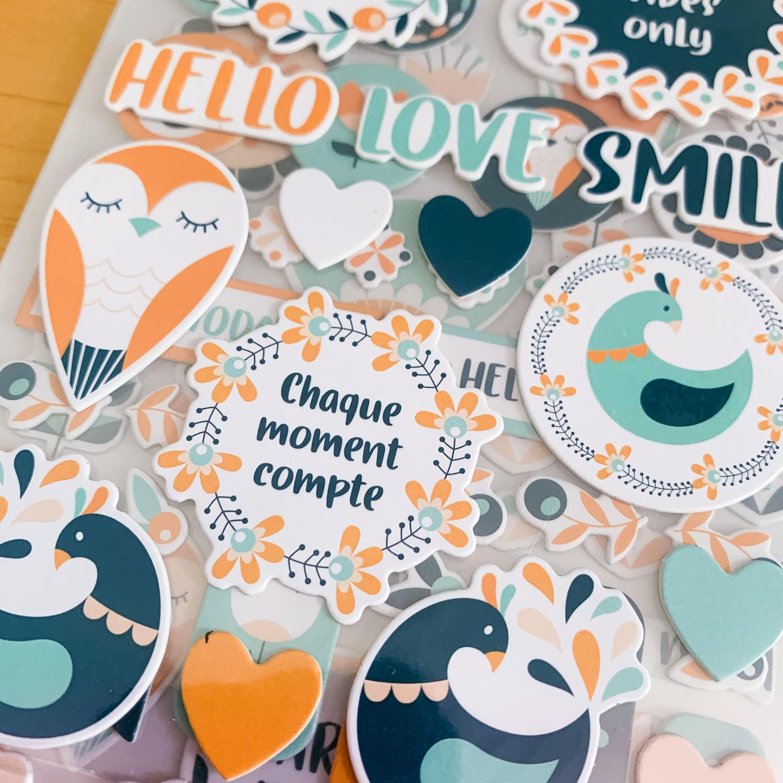 Stickers cartonnés / Jardin d'hiver