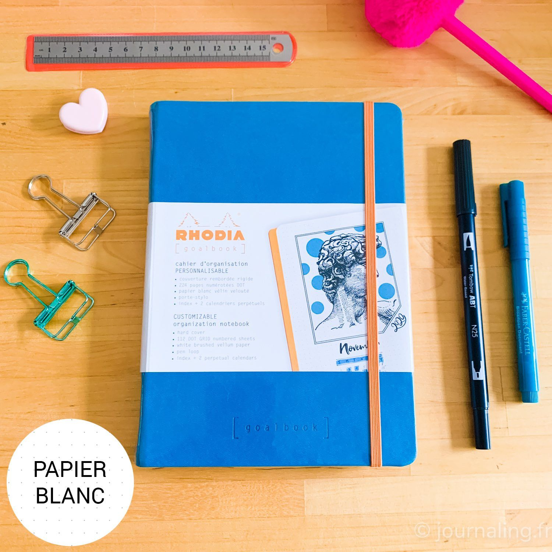 goalbook dots couverture rigide papier blanc