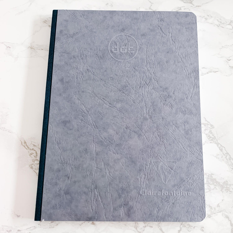 Carnet DOTS Clairefontaine, couverture façon cuir gris