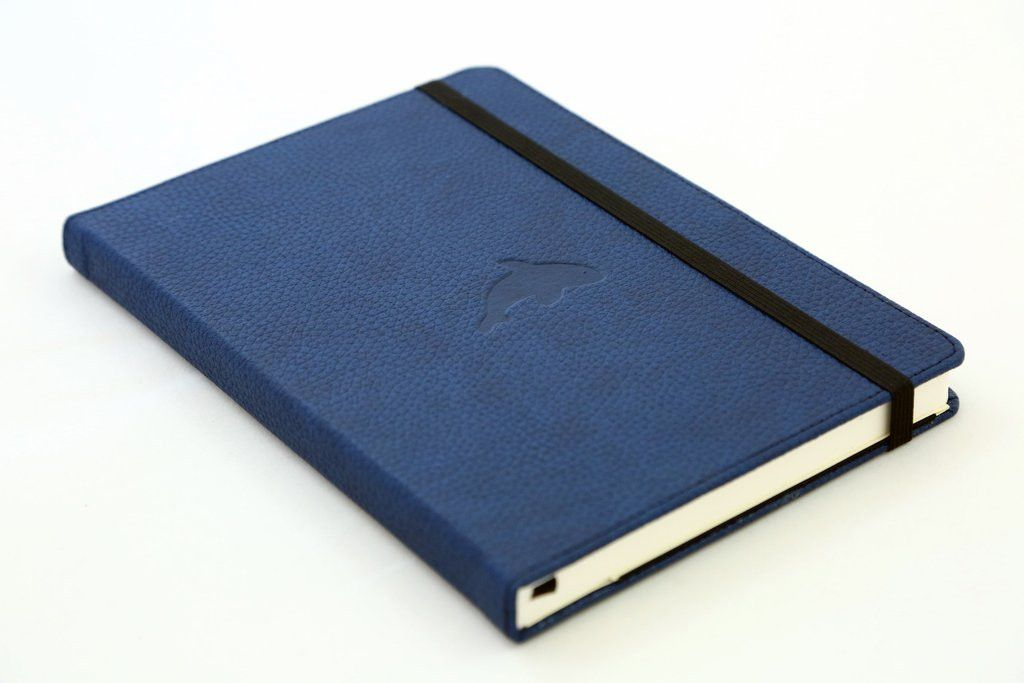 carnet bujo cuir bleu