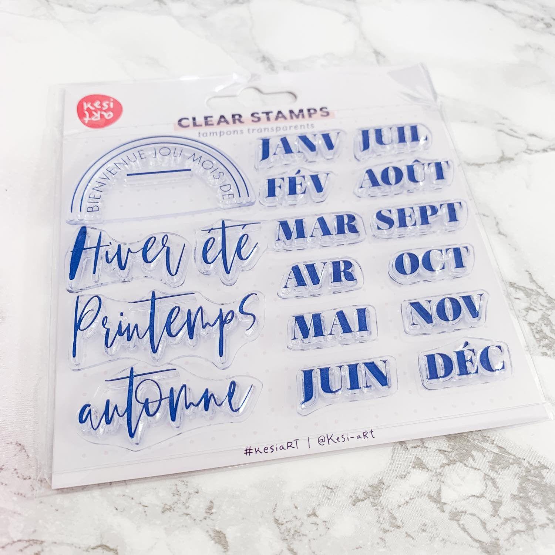 Clear stamps spécial Bullet Journal® : mois de l'année et saisons