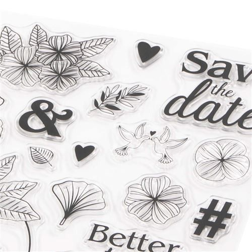 Clear stamps Mariage : 33 tampons transparents