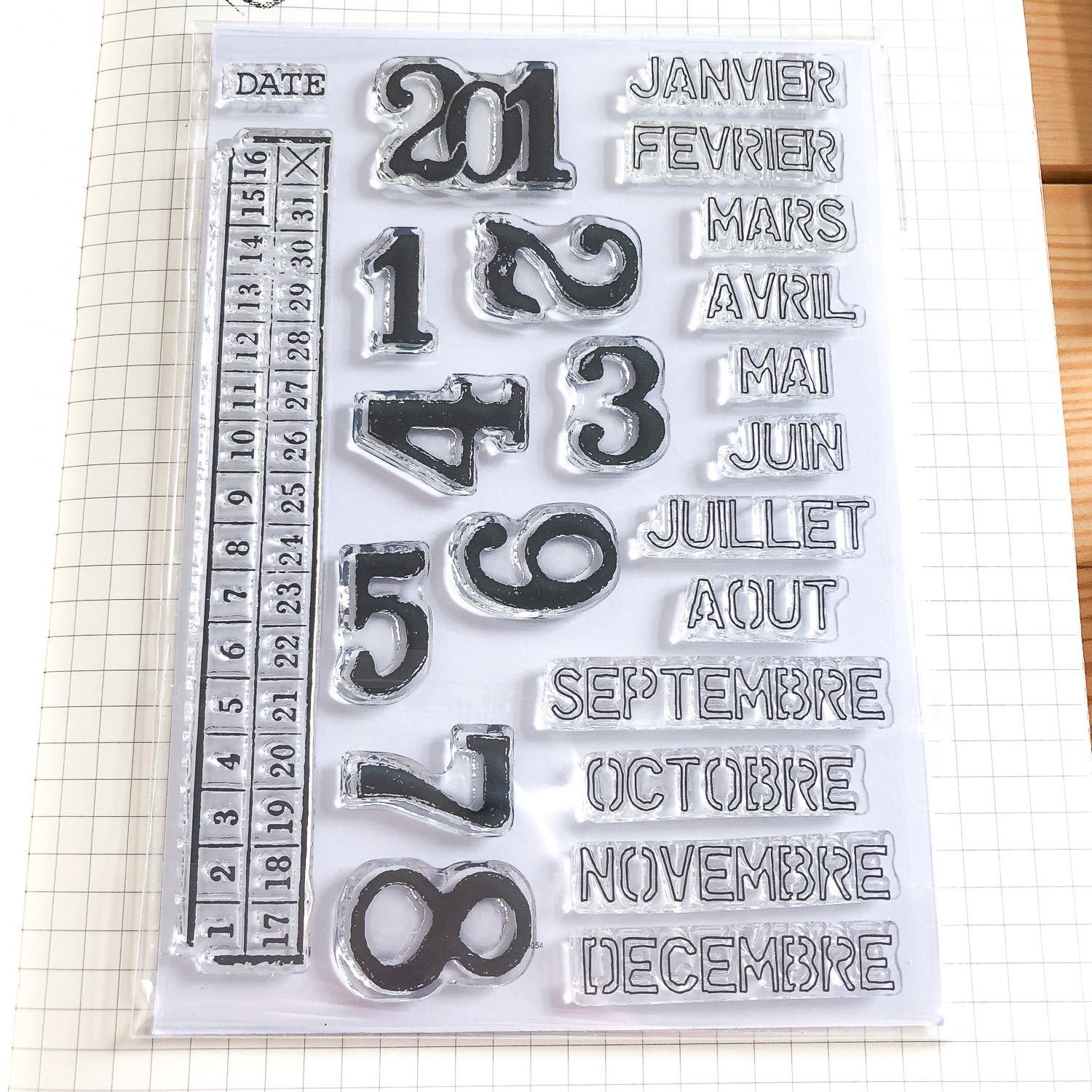clear stamps mois années