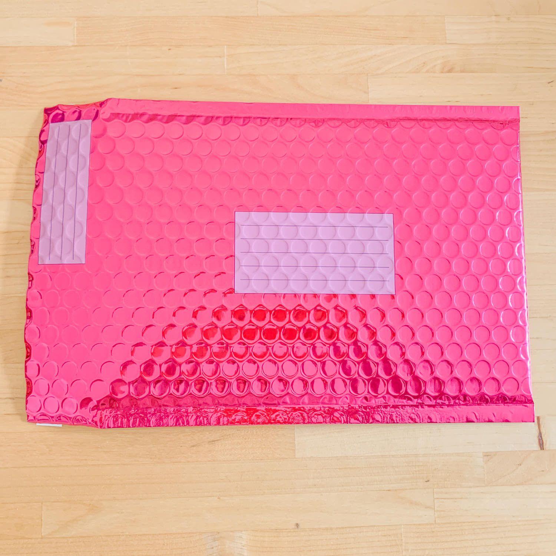 Enveloppe bulle métallisée Rose - 18 x 26cm