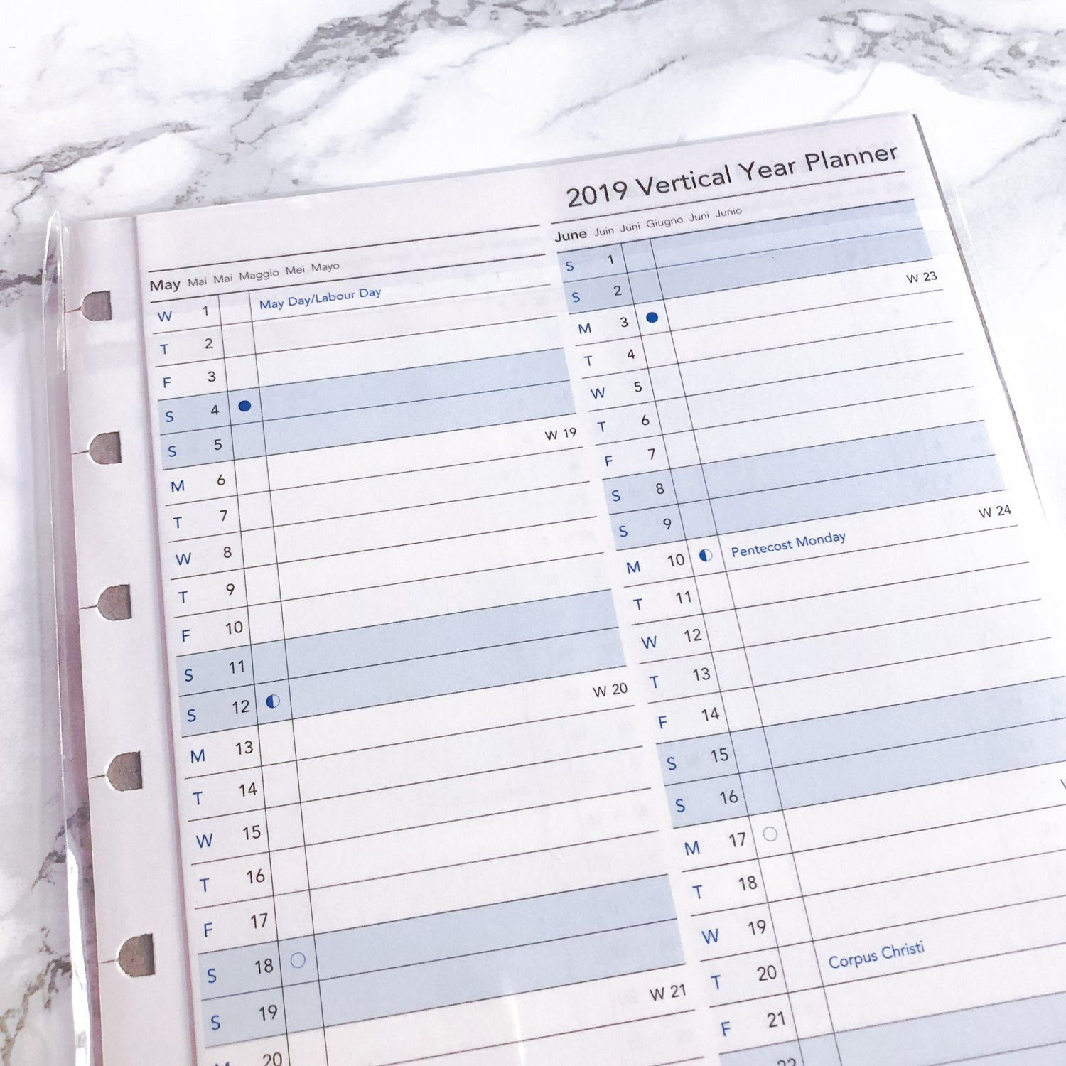 Recharge Filofax Notebooks, planning annuel 2019