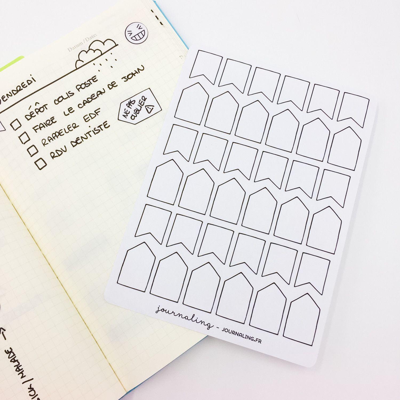 Stickers minimalistes: Bannières date / fait important