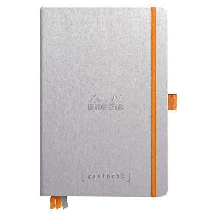 Rhodia Goalbook couverture rigide / Argent