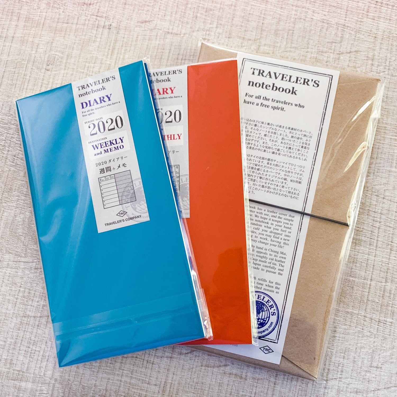 kit agenda traveler's notebook / kit cuir midori