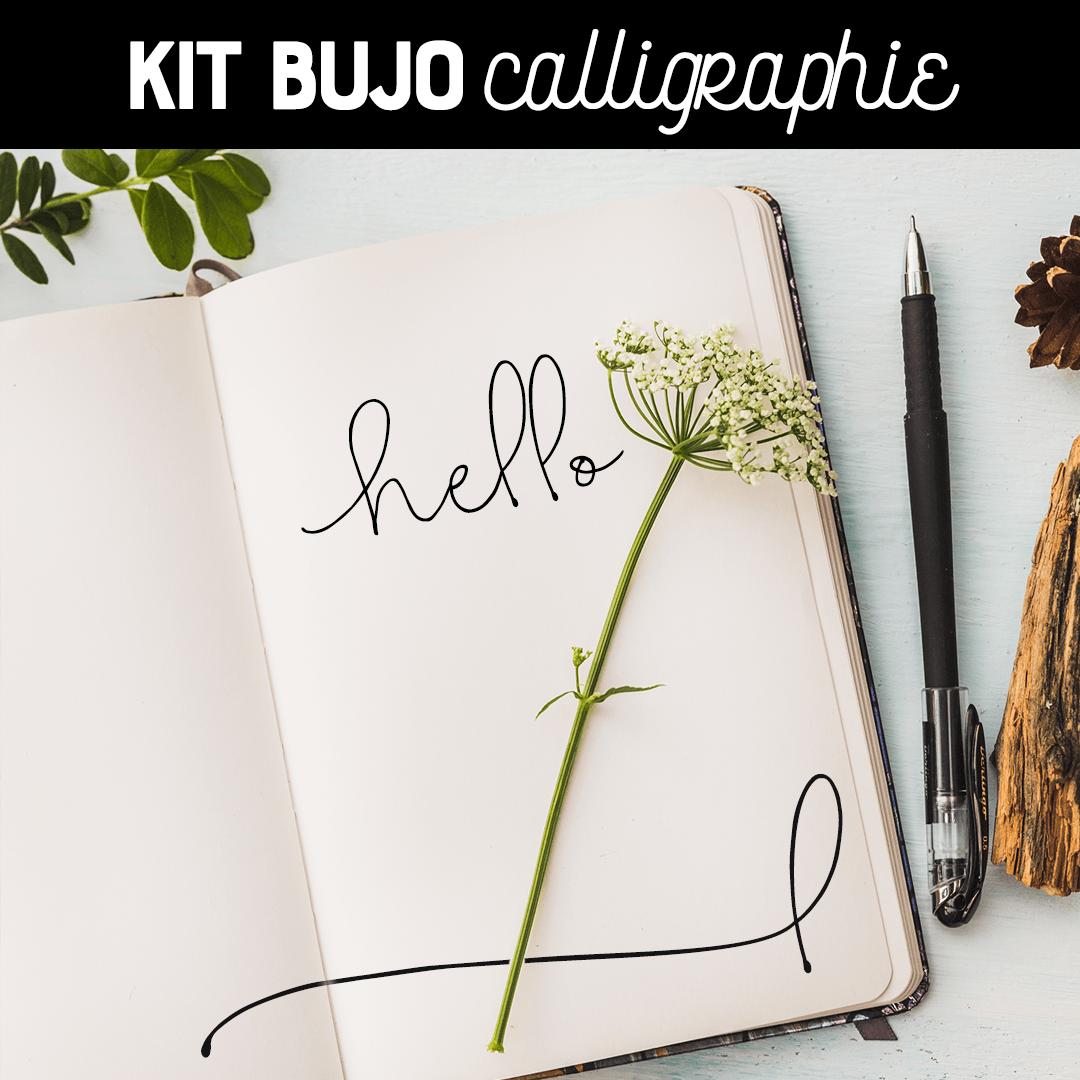 kit bullet journal calligraphie. Black Bedroom Furniture Sets. Home Design Ideas