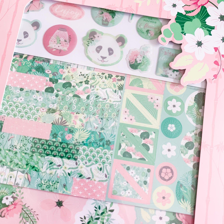 Kit d'accessoires Kawaii : pandas et couleurs pastel