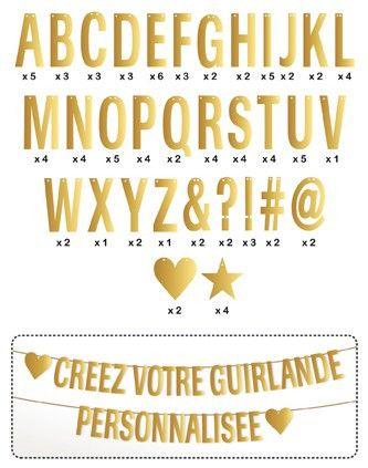 Guirlande lettres murale, à composer