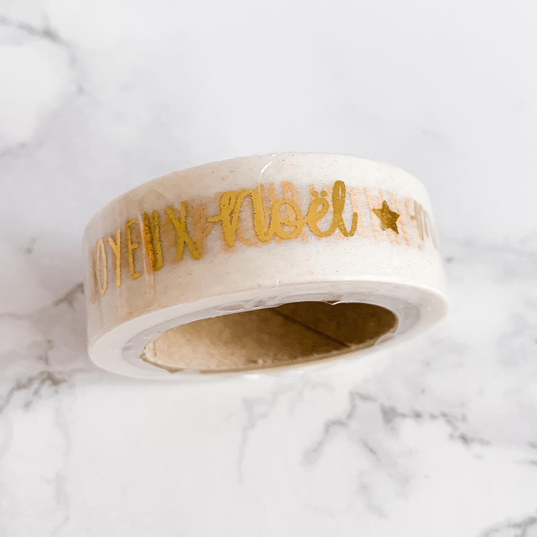 masking tape noel doré