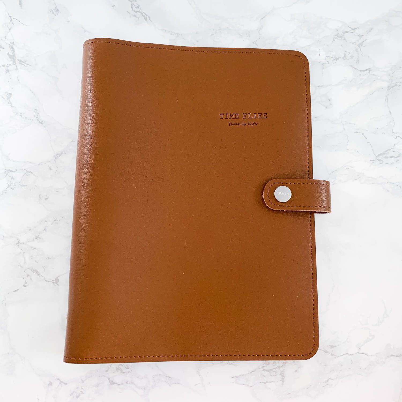 planner simili cuir marron premium