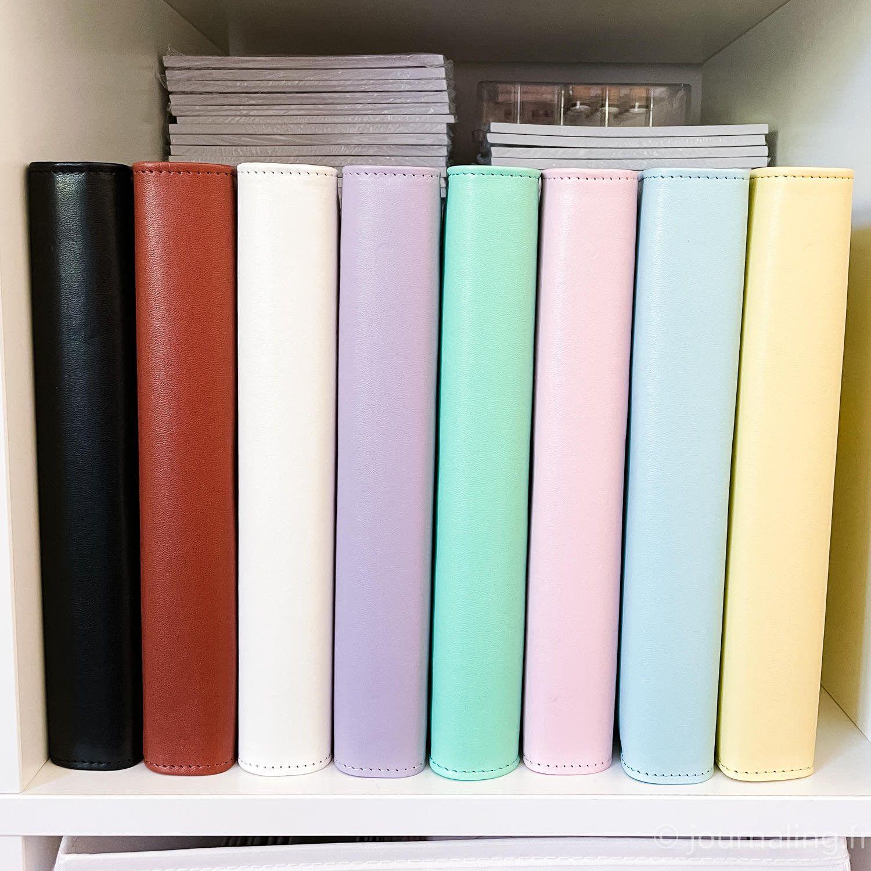 Planner A5 compatible Filofax, 7 couleurs Pastel et classiques au choix