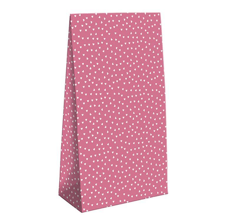 Pochette Cadeau rose avec Coeurs