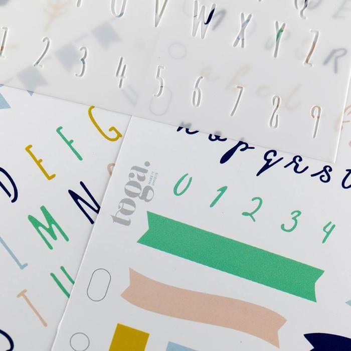 Pochoir Alphabet Lettres manuscrites, Pochoir Lettrage