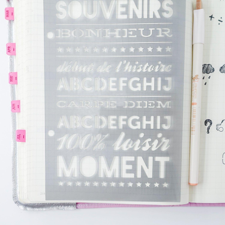 Pochoir jolis mots pour décorer vos pages