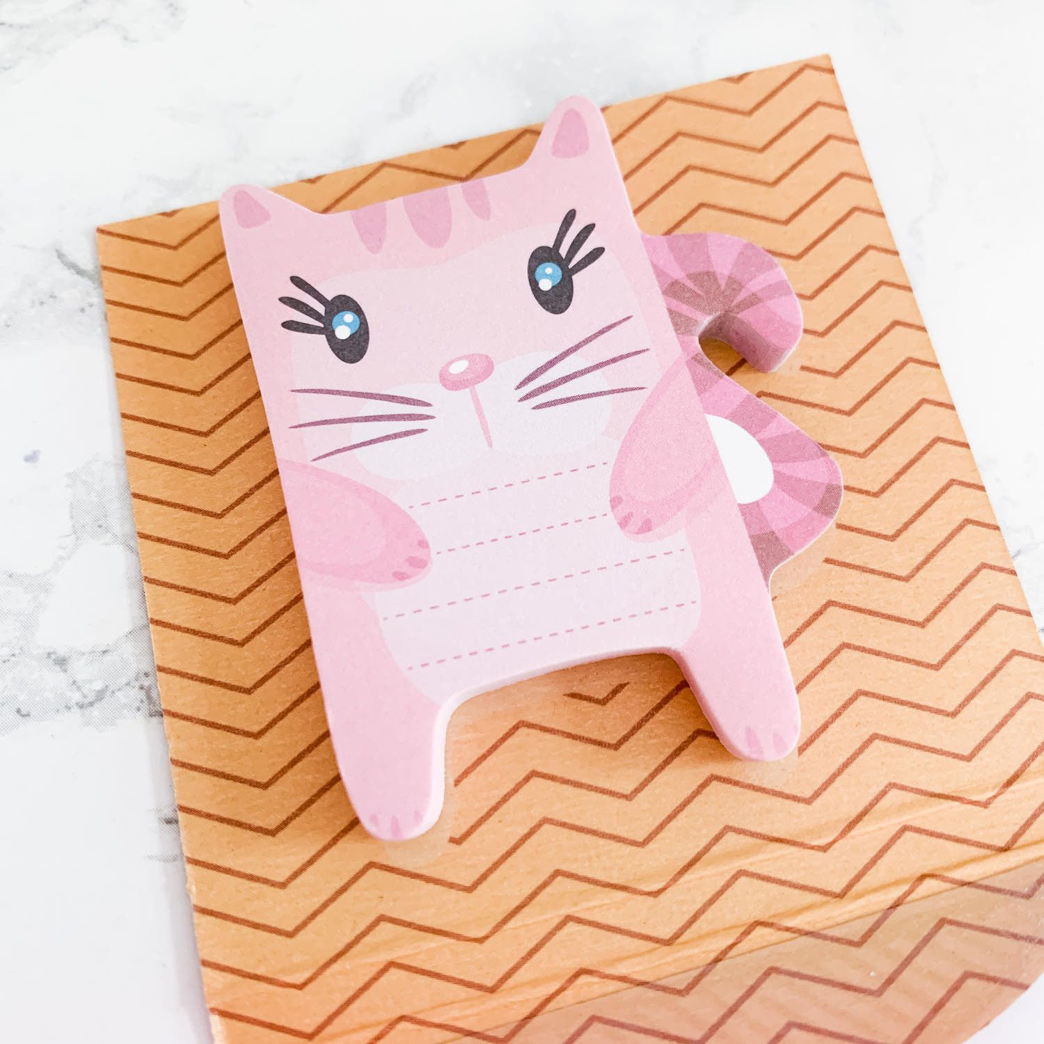 Notes repositionnables type postit, Chat rose (50 feuilles)