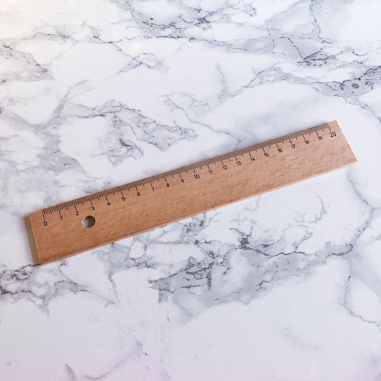 Règle bois 20cm