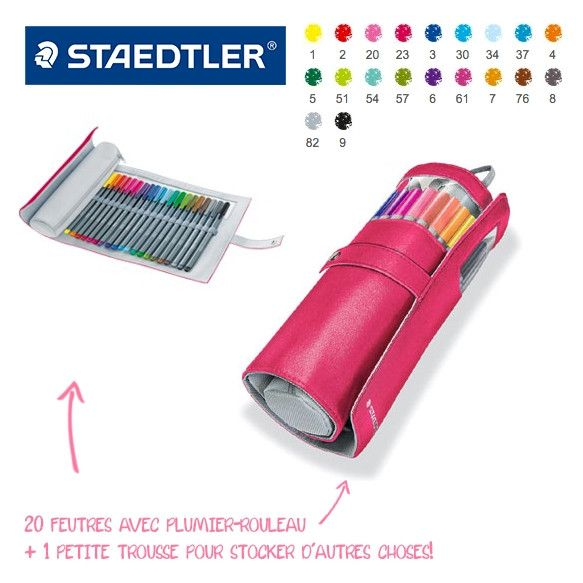 Triplus FineLiner - Brilliant Colours, trousse de 20