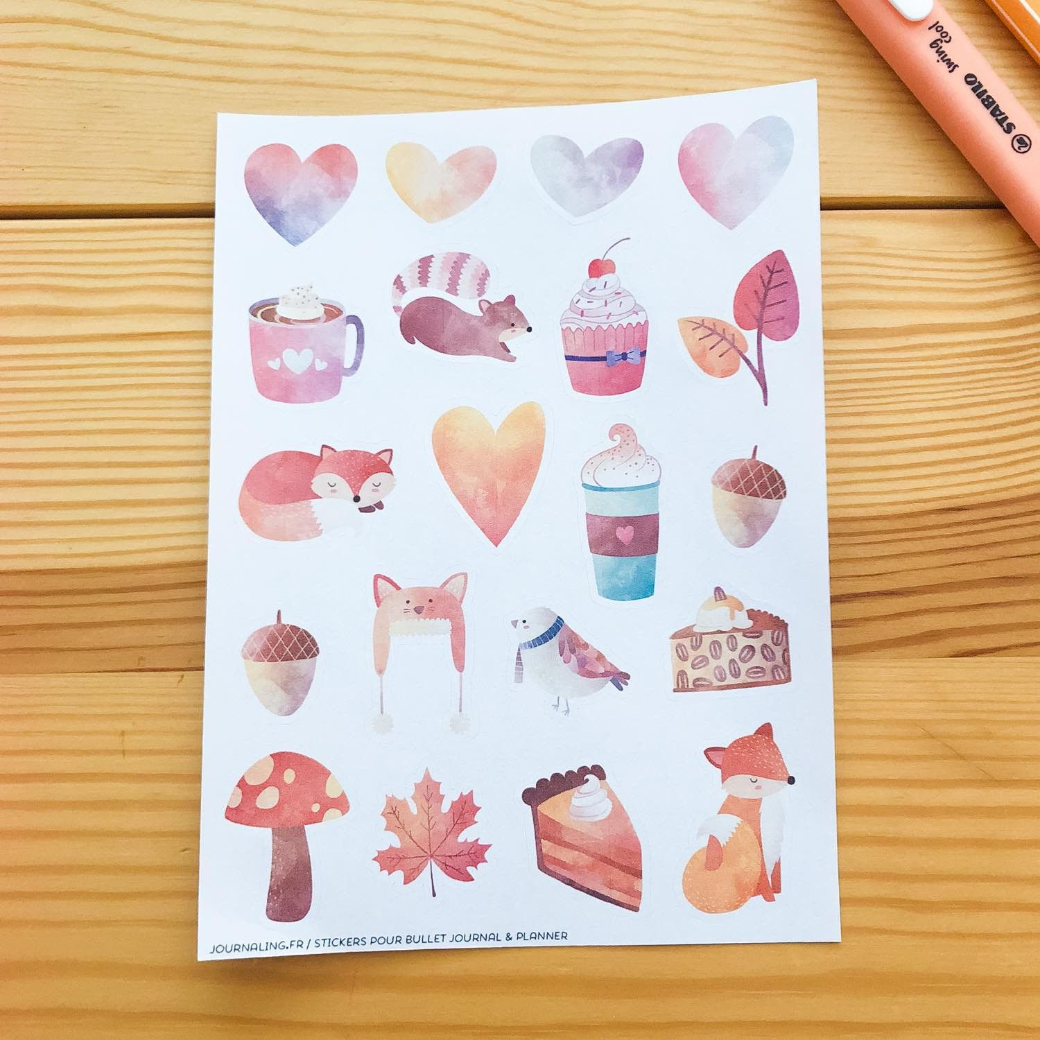 stickers automne bullet journal
