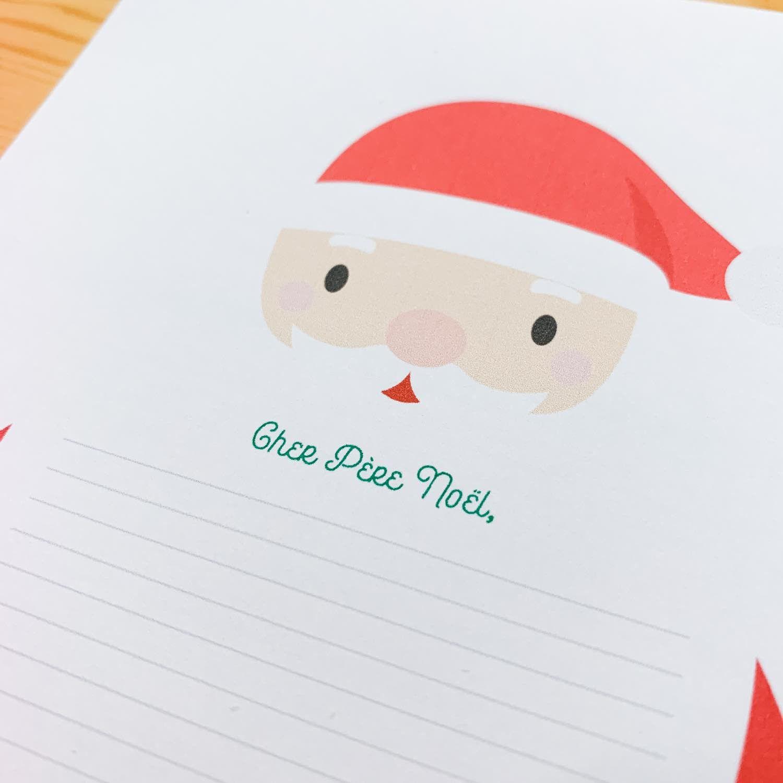 Sticker Pleine Page - Lettre au père Noël