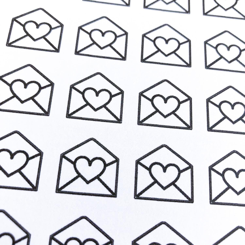 Stickers bujo Enveloppe à coeur
