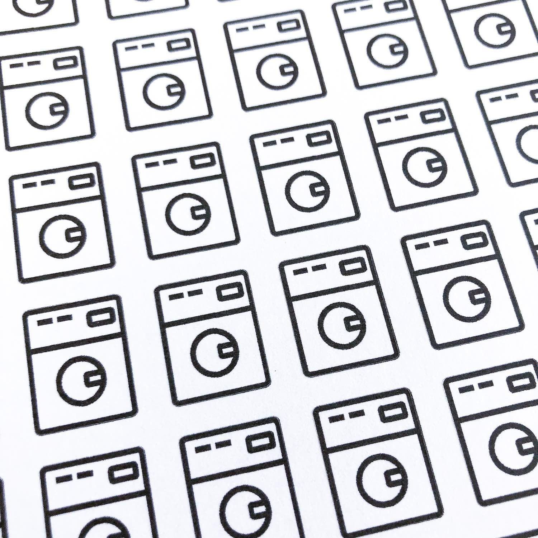 Stickers bujo lave linge