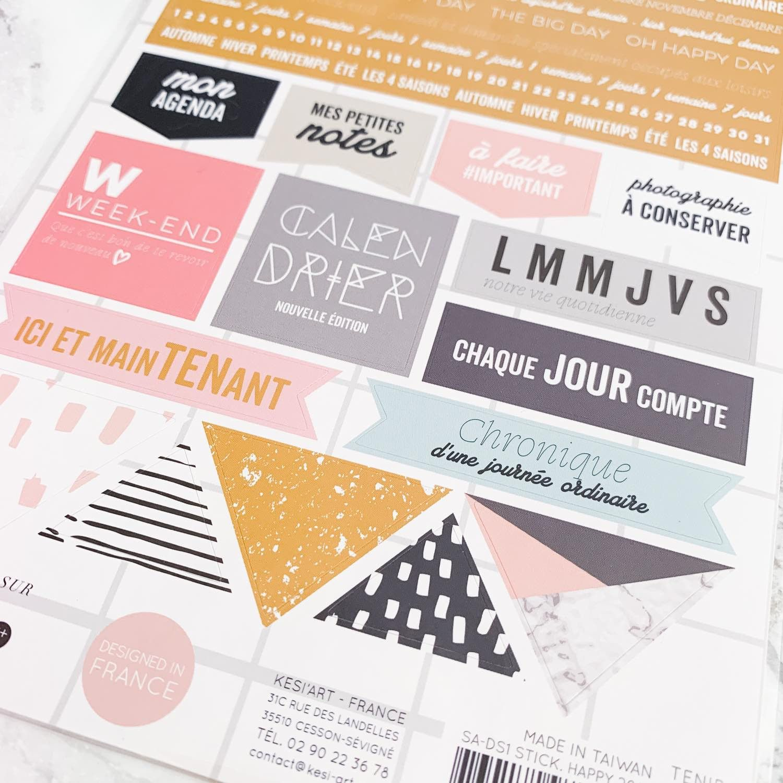 Stickers Happy Days pour illustrer votre Bullet Journal