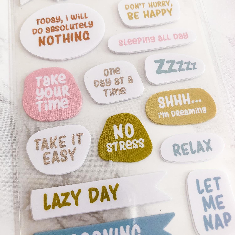 68 stickers No Stress